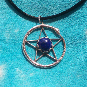 pentacle with lapis