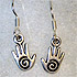 Spiral Hand Earrings