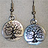 Tree Circle Earrings