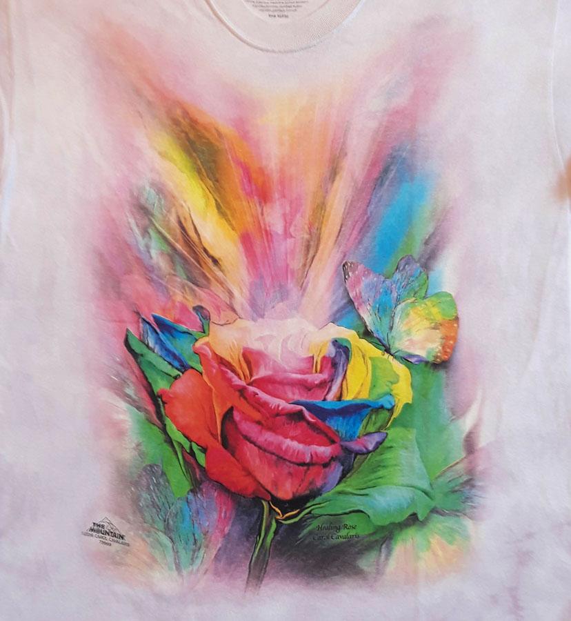 """The Mountain T-Shirt /""""Healing Rose/"""""""